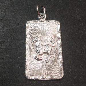 """Silver """"Lucky"""" &  Horse Zodiac Charm Pendant"""